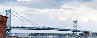Panoramic view of bridge. Stock Images