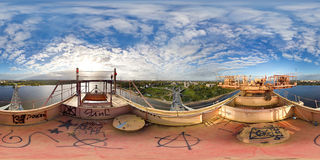 Panoramic view of the bridge Royalty Free Stock Photos