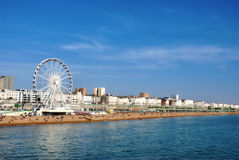 Panoramic View Brighton Beachfront Stock Images
