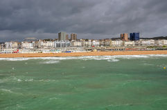 Panoramic view of Brighton coast, East Sussex Royalty Free Stock Image