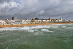 Panoramic view of Brighton coast, East Sussex Stock Images