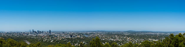 Panoramic view of Brisbane from Mount Coot-tha, Australia Stock Image