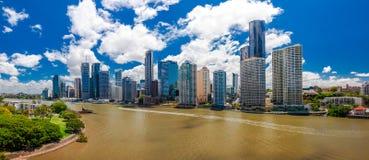 Panoramic view of Brisbane Skyline Royalty Free Stock Image