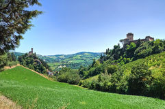 Panoramic view of Brisighella. Emilia-Romagna. Italy. Royalty Free Stock Image