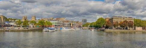Panoramic view of Bristol Docks royalty free stock photo