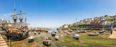 Panoramic View of Brixham Harbour, Devon Royalty Free Stock Image