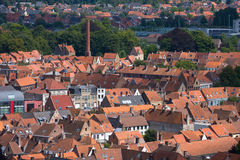Panoramic view of Bruges. Stock Photo