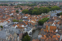 Panoramic view of Bruges, Belgium Stock Photo