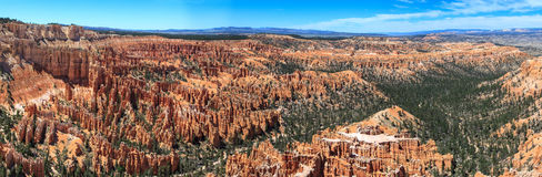 Panoramic view of Bryce Canyon National Park amphitheater. Utah. United States Royalty Free Stock Photo