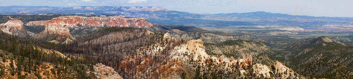 Panoramic view of bryce canyon park Royalty Free Stock Images