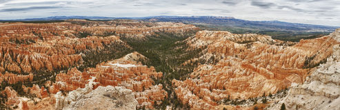 Panoramic view of bryce canyon park Stock Photography