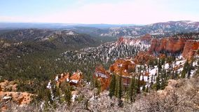 Panoramic view of the Bryce Canyon stock video