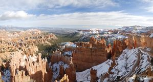 Panoramic view of Bryce Canyon in winter Stock Photo