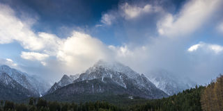 Panoramic view of the Bucegi mountains Royalty Free Stock Photos