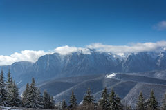 Panoramic view of the Bucegi mountains Royalty Free Stock Image