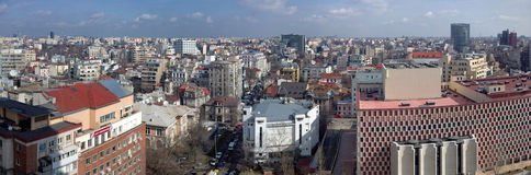 Panoramic view of Bucharest Royalty Free Stock Photos