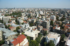 Panoramic view of Bucharest (Romania) Royalty Free Stock Photography