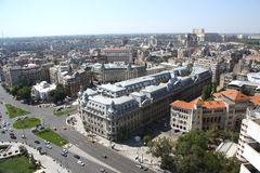 Panoramic view of Bucharest (Romania) Royalty Free Stock Images