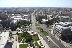 Panoramic view of Bucharest (Romania) Royalty Free Stock Photos