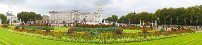 Panoramic view of Buckingham Palace. London, England. Royalty Free Stock Photography