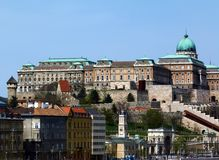 Panoramic View of Buda Castle, Budapest, Hungary stock photography