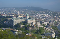 Panoramic view of Buda from Gellert hill in Budapest, Hungary Royalty Free Stock Photo
