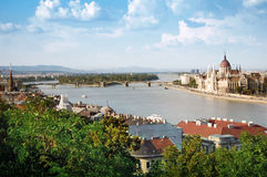 Panoramic view of Budapest Royalty Free Stock Photography