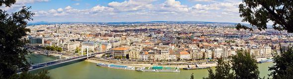 Panoramic View of Budapest City stock photos