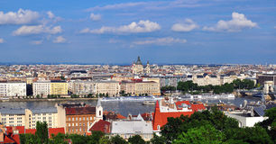 Panoramic view of Budapest city centre Royalty Free Stock Photos