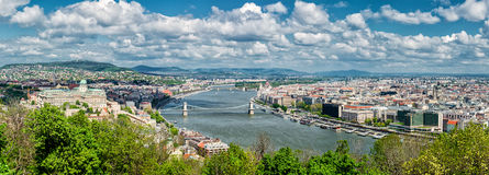 Panoramic view of Budapest city Royalty Free Stock Photo