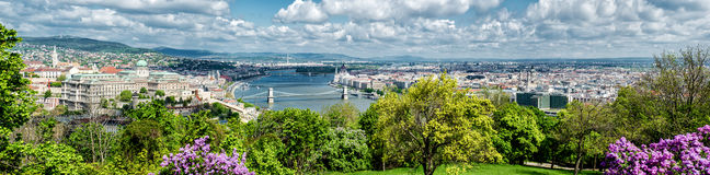 Panoramic view of Budapest city Royalty Free Stock Image