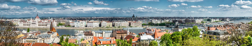 Panoramic view of Budapest city Stock Photo
