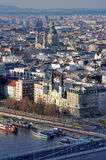 Panoramic view of Budapest Royalty Free Stock Photos