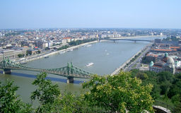 Panoramic view of Budapest and the Danube River Stock Photography