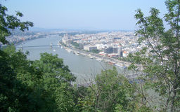 Panoramic view of Budapest and the Danube River Royalty Free Stock Image
