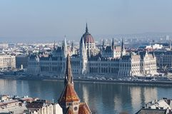 Panoramic view of Budapest downtown Stock Photography