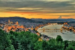 Panoramic view of Budapest Stock Image