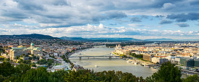 Panoramic view of Budapest, Hungary Stock Photography