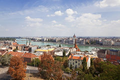 Panoramic view of Budapest royalty free stock images