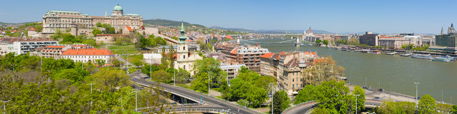 Panoramic view of Budapest in the morning Royalty Free Stock Photography