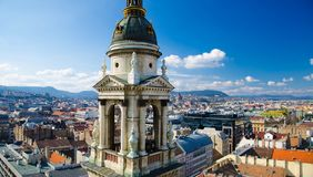 Panoramic view of Budapest from Saint Stephens Basilica, Hungary stock photo