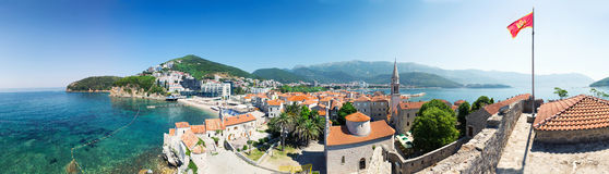 Panoramic view of Budva city Royalty Free Stock Photo