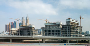 Panoramic view of building site Stock Photo
