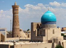 Panoramic view of bukhara from Ark royalty free stock images