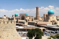 Panoramic view of bukhara from Ark. Uzbekistan Royalty Free Stock Photo