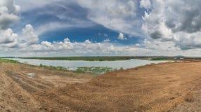 Panoramic view Bungboraped.  Royalty Free Stock Photography