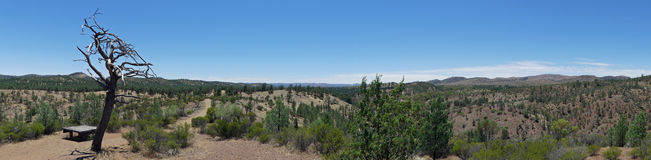 Panoramic View of the  Bunyeroo Valley, Flinders Ranges National Park,Australia Royalty Free Stock Photos