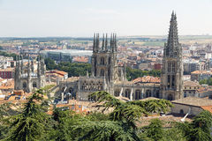Panoramic view of Burgos Stock Photography