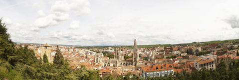 Panoramic view of Burgos, Spain, Camino de Santiago Stock Photography