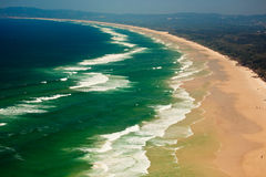 Panoramic View of Byron Bay Beach, NSW, AU Royalty Free Stock Images